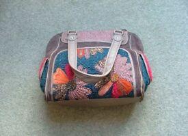 "Ladies Handbag. ""Next"" Corduroy and Tweed"