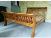 Barker and stonehouse reclaimed oak king size sleigh