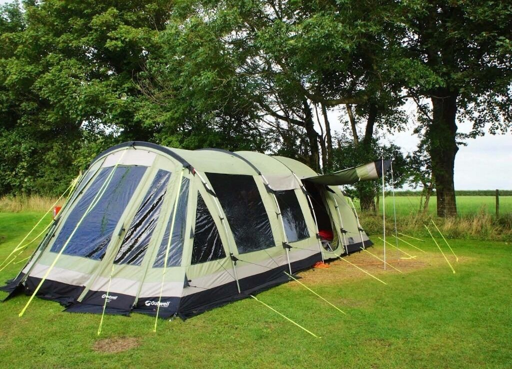 Outwell Wolf lake 5 + Awning footprint and carpet. Polycotton tent EXCELLENT CONDITION & Outwell Wolf lake 5 + Awning footprint and carpet. Polycotton ...