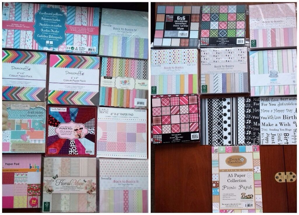 Paper Pads For Card Making Part - 37: Card Making Bundle - Inc Lots Of Assorted Paper Pads, Peel Offs U0026 Cello Bags