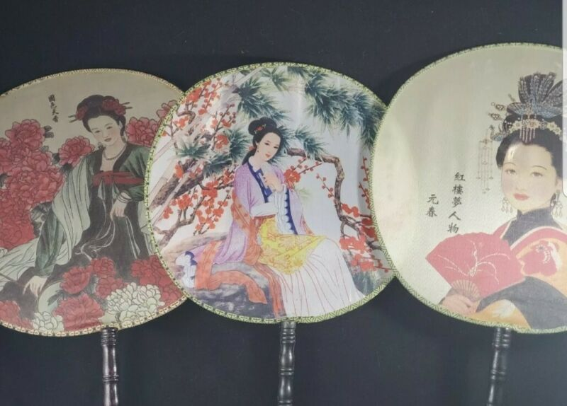 Handpainted Handfans Asian/Oriental