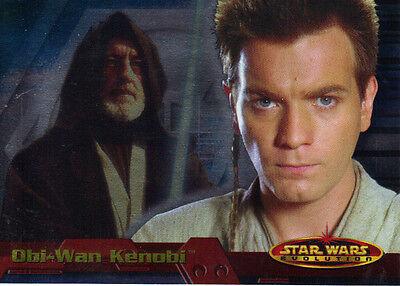 Star Wars Evolution Promo Card P2 Obi Wan Kenobi (Topps, 2001)