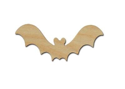 Bat Shape Halloween Unfinished Wood Cut Outs Variety of Sizes  (Halloween Wood Cutouts)