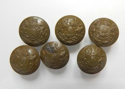 6 x WW2 british Army General Service Buttons small 18 mm Khaki Plastic