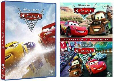 PELICULA DVD PACK CARS + CARS 2 + CARS 3 PRECINTADAS