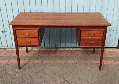 Danish styled Mid Century Teak Desk 1950s 1960s vintage restored free delivery