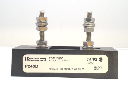 NEW FERRAZ SHAWMUT P243D SEMICONDUCTOR FUSE BLOCK MERSEN 1000VAC