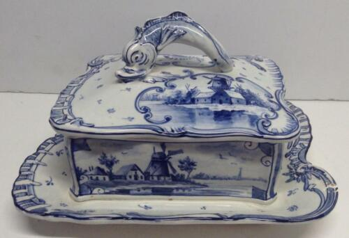 Vintage Royal Bonn Delft Covered Dish
