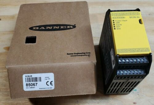 New Banner XS26-2E 85067 Safety Controller Relay 26 Iinputs