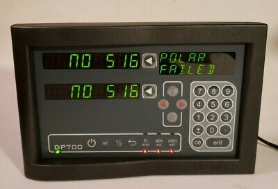 Newall Dp700 Dro Digital Readout Unit Milling 2 Axis Dp7002110s12 Used W Pwr Crd