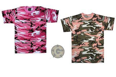 Pink Camouflage T-shirt (T-Shirt Hot Pink Camo or Subdued Pink Camouflage Tee Shirts Women's Tee )