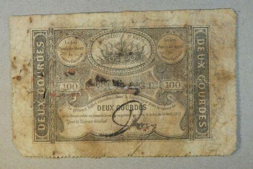 HAITI  2 Gourdes  1827