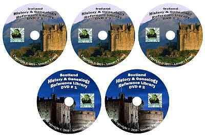 618 Books IRELAND & SCOTLAND history & genealogy 5-DVDs