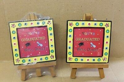 2 x Graduation Easel Photo Frames
