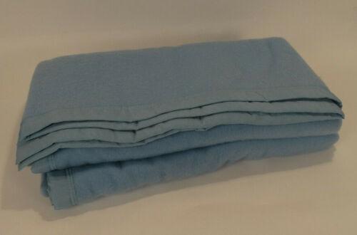 "Dutch Army Light Blue Wool Blend Blanket 96"" x 66"""