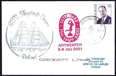 Polish Tall Ship FRYDERYK CHOPIN Tall Ships Antwerp Belgium Ship Cover (1228y)