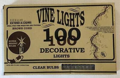 Vintage Decorative Vine Lights Clear Bulbs 1997 Indoor Outdoor