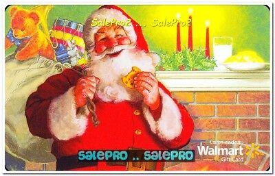 WALMART CHRISTMAS SANTA CLAUS EATING COOKIE #VL10028 COLLECTIBLE GIFT CARD Christmas Cookie Gift Card