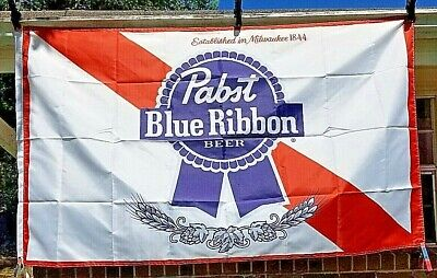 Pabst Blue Ribbon Beer Flag 3'x5' Indoor Banner Bar Tavern Man Cave Sign - Tavern Man
