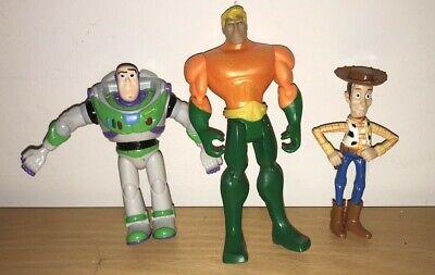 "Action Figures Toy Story Disney Pixar Buzz Light Woody Plus Mattel 5""; 4"" 3 1/2"""