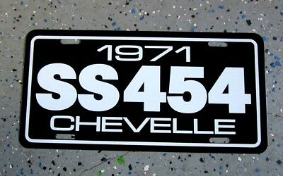 1971 Chevrolet Ss 454 Chevelle Super Sport License Plate Tag 71 Big Block Chevy