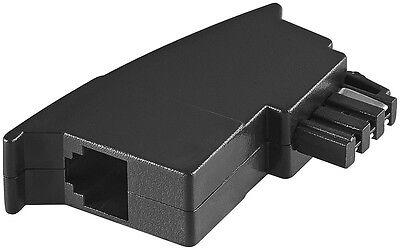 Rj11 Buchse Telefon (Telefon Modular Adapter TAE-F Stecker auf  RJ-11 Buchse Modularkupplung 6P4C)