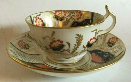 English Porcelain Cup and Saucer, London Shape, Imari Colors, 19th C.