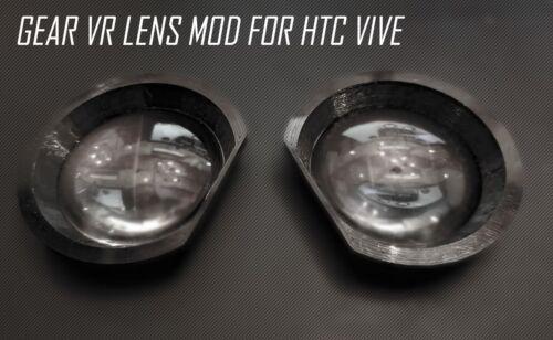 HTC VIVE LENS UPGRADE - GEAR VR LENS & ADAPTER MOD v3.3