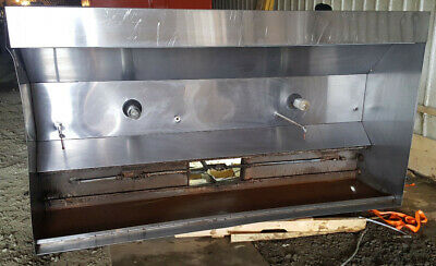 8 12 Foot Exhaust Hood Vent Commercial Restaurant Kitchen Stainless Steel Used