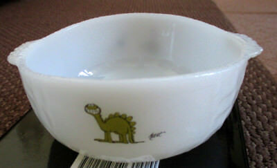 3 VINTAGE FIRE KING MILK GLASS CEREAL BOWLS W/ BC Comic Strip Decorations  Cereal Bowl Decoration