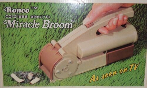 Vintage 1973 Ronco Cordless Electric Miracle Broom,As Seen on TV. NIB NOS New