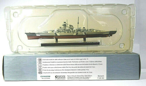 Atlas+Editions+Legendary+Warships+of+WWII+Bismarck+1%2F1250+Scale+Boxed