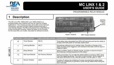 Mc Linx 1 - Programmable Relay Module - Bea Sensors