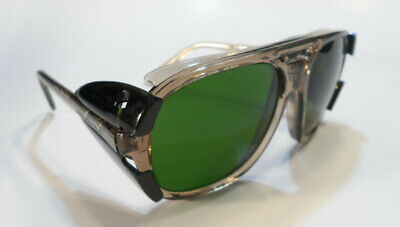 Vintage Crews Z87 Safety Sunglasses Motorcycle Side Shields Green (Crews Sunglasses)
