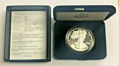 Silver 1oz American Eagle $1 Silver Proof US Eagle with Box & Cert Random Date