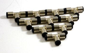 10x T-Stück Steckverbindung Edelstahl   6mm