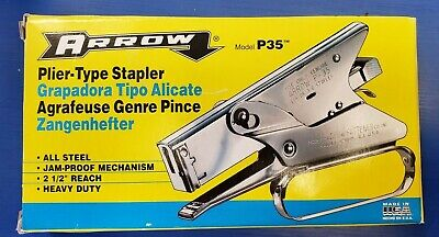Arrow Stapler P35 All Steel Heavy Duty Plier-type Stapler Qty 2