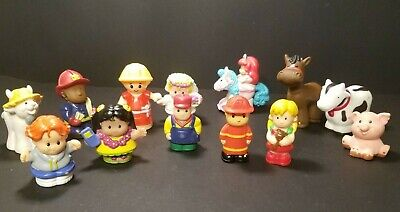 Fisher Price Little People & Friends Lot and Klip Klop too Lot of 13 - most '97