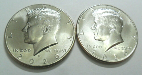 2020 P & D Kennedy Half Dollar Set (2 Coins) *BU - UNCIRCULATED* *FREE SHIPPING*