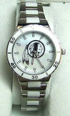 Washington Redskins Womens Watch (Washington Redskins Mother of Pearl Watch Game Time Womens Pearl)