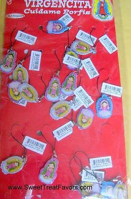 Virgencita Guadalupe Party Baptism Favors Keychain Lupita Charm Cell Phone Strap
