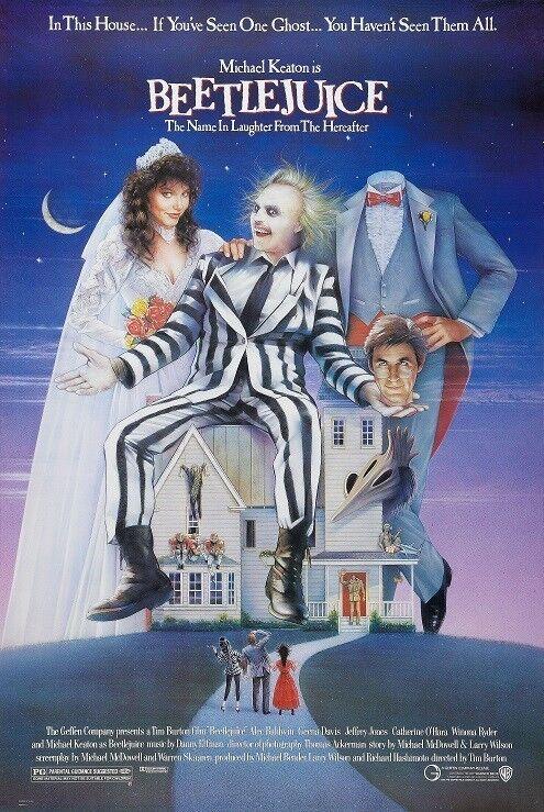 Beetlejuice movie poster print  - Michael Keaton, Alec Baldwin, Tim Burton