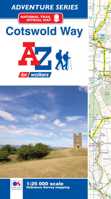 Cotswold Way Adventure Atlas by A-Z Maps (Paperback, OS 25000 Mapping)