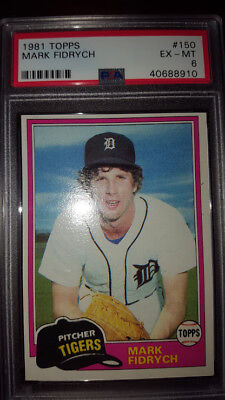 1981 Topps #150 Mark The Bird Fidrych TIGERS  PSA 6 EX-MT LO-POP(3) 1/2 Off Ship
