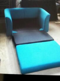 Kenster sofa bed 2 seater in teal blue £85