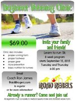Beginner Run Clinic **0 to 5k with Road Rebels Running Club