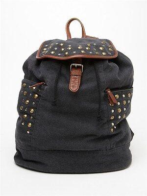 Roxy Camper Backpack Rock Star Casual School Book Bag Girls NEW NWT Black, used for sale  Van Nuys