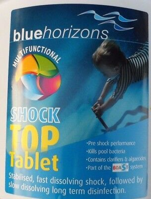 BLUE HORIZONS MULTIFUNCTIONAL  SHOCK TOP CHLORINE TABLETS 5kg-COLLECTION ONLY