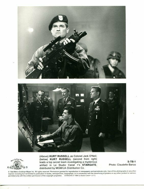 STARGATE-1994-8 X 10 STILL-DRAMA-SCI-FI-TOP SECRET TEAM-KURT RUSSELL-vg