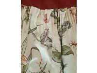 Floral pencil pleat curtains